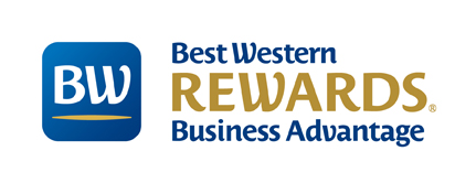 Mit 10% günstigeren Best Western Business Advantage Preisen in über 4.500 Hotels weltweit punkten! Logo: Best Western