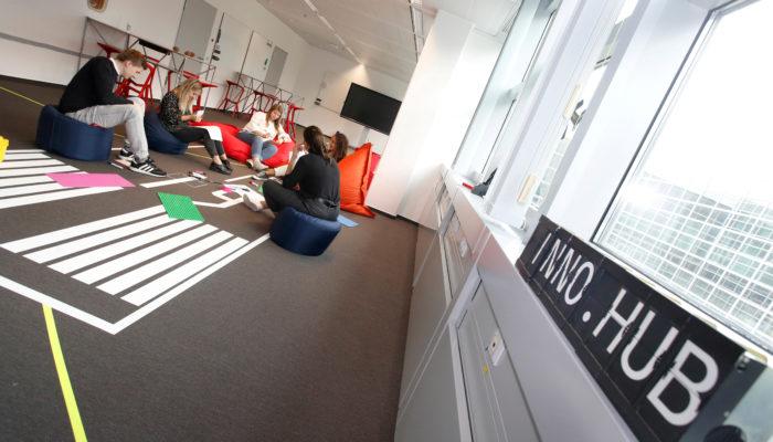 Play & work: Im Inno.hub wird viel Raum für Kreativität geboten. Foto: Fraport AG