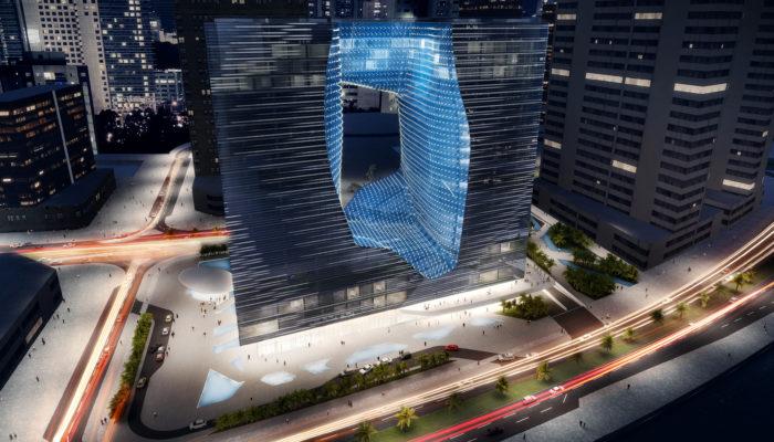 Wow-Faktor: Das ME Dubai soll am 14. Februar 2020 eröffnet werden. Foto: Meliá Hotels International