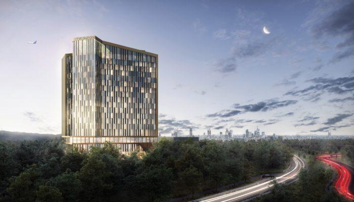 Der Spatenstich ist im nächsten Jahr geplant: Der Entwurf für das Steigenberger Kongress Hotel. Foto: Groß & Partner