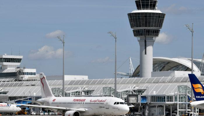 Tunisair am Münchner Flughafen. Foto: Flughafen München GmbH, Unternehmens- kommunikation