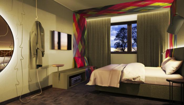 Zimmer im neuen Ibis Styles Parndorf. Foto: Kitzig Interior design