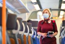 Die Deutsche Bahn begrüßt Strafen für Maskenverweigerer. Foto: Deutsche Bahn AG / Oliver Lang