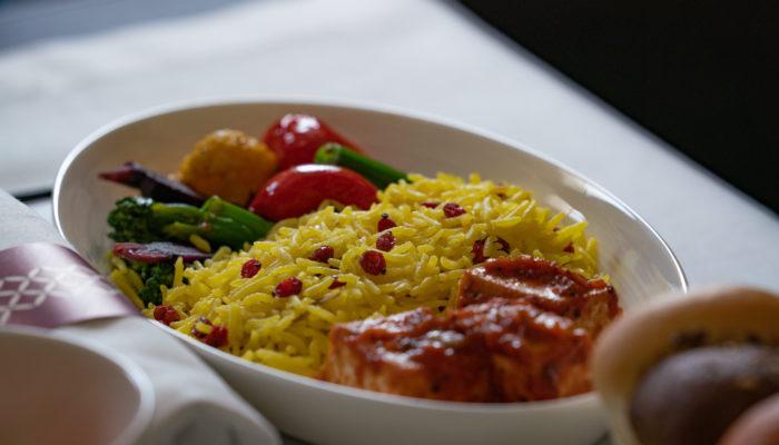Vegane Bordmenüs Qatar Airways