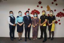 Geimpfte Crews Singapore Airlines