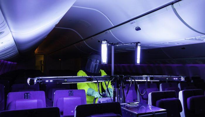 Qatar Airways UV-Kabinenreiniger