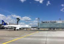Air Astana A320 am Flughafen Frankfurt