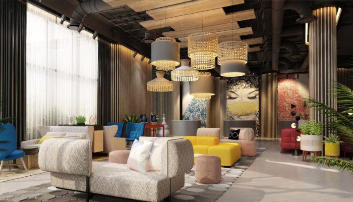 Die Lobby des neuen NH Dubai The Palm. Fotos: NH Hotels