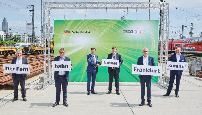 Grünes Licht für den Frankfurter Fenrbahntunnel und Tiefbahnhof. Foto: DB