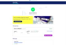 Bei Air Europa können die Passagiere ihre Gesundheitsdaten beim Online-Checkin angeben. Grafik: Amadeus