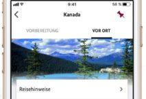 Die Sicher Reisen App des Auswärtigen Amts. Screenshot: AA