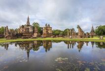 Der Mahathat Tempel in Sukhothai, Nordthailand. Foto: Thailändisches Fremdenverkehrsamt