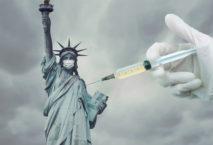 Freiheitsstatue mit Spritze, New York, USA Foto: iStock/Adrian Vidal