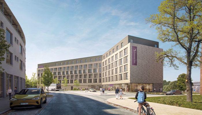 So soll das neue Premier Inn am Hauptbahnhof aussehen. Foto: Premier Inn
